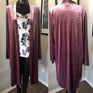 ⚡️Final Price⚡️ Preloved faux velour L/XL kimono